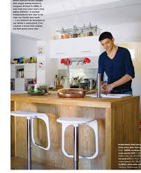 small ikea kitchen design with wooden kitchen island and white