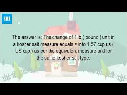 kosher chagne how many cups are in a pound of kosher salt