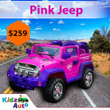 electric jeep jeep pink electric ride on toy cars kidz auto