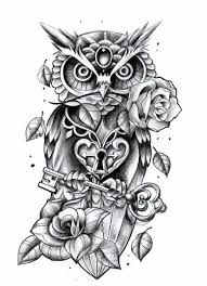 tattoo pictures of owls owl tattoo line drawing clipartxtras