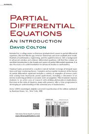 partial differential equations an introduction david colton