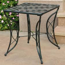 Outdoor Metal Side Table Outdoor Accent Table Wood Fish Table Folding Side Table Coastal