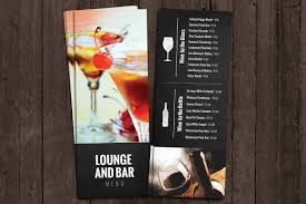 menu bar templates bar and lounge drink menu brochure templates creative market