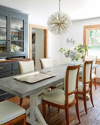 love the playful meets modern take on the traditional dining room
