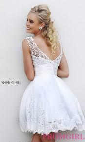 Short White Wedding Dresses Sherri Hill Prom Dress Short White Dress For Prom