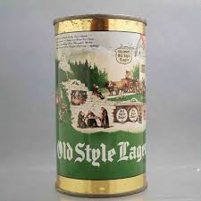 beer can cartoon heilemans old style lager 108 9 flat top beer can