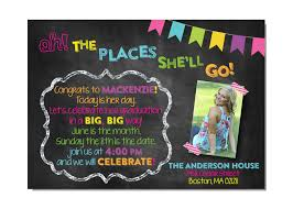 oh the places you ll go graduation party oh the places you ll go graduation party invitationcelebration