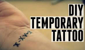 custom temporary tattoo diy youtube