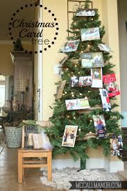 christmas card tree display mccall manor