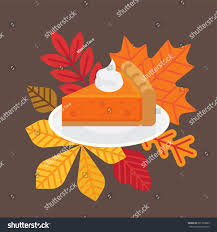 vector flat design thanksgiving themed illustration stock vector