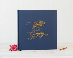 personalized wedding albums book 20 best foil wedding guest books images on handmade
