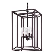 seeded glass light fixtures seeded glass chandelier with rectangle cage frame bronze 4 lt 1746