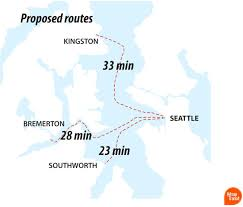 Seattle Monorail Map by New Fast Ferry To Bremerton Sails Monday But Bikes With Fenders