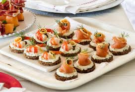 canapes with prawns smoked salmon prawn canapés recipe foodiful