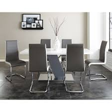 steve silver 7 piece nevada dining table set walmart com