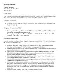 Sle Of A Resume Objective by Resume Sle Retail Buyer Resume Sles Entry Level Buyer