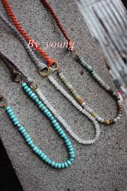 charm leather necklace images Boho necklace amazonite rondelles beads and mala round beads with jpg