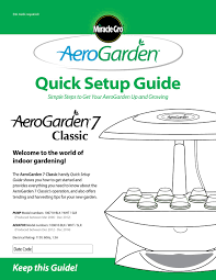 quick setup guide aerogarden 7 classic by caitlynko issuu