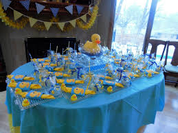 rubber duck baby shower duck themed baby shower ideas view of table with luncheon plates