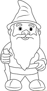 garden gnome fluffy beard coloring free gnomeo