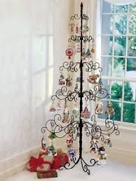 wrought iron tree metal stand ornament display
