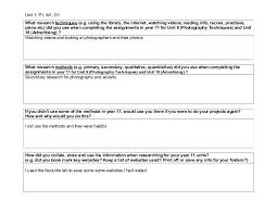 unit 1 research methods worksheet y11