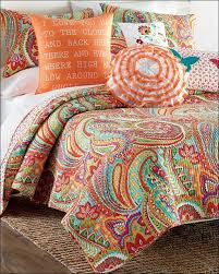 Orange And White Comforter Bedroom Amazing Boho Medallion Bedding Black And White Bed