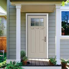 Exterior Steel Doors Home Depot Jeld Wen 36 In X 80 In Primed Craftsman Right Inswing 6