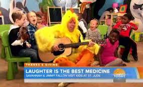 jimmy fallon wears chicken suit plays dances with children