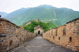 Map Great Wall Of China by Great Wall Of China On A Clear Day Stock Photo Picture And