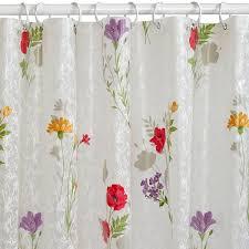 India Shower Curtain Ink Flower Peva Shower Curtain
