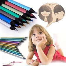 special pencils for drawing special 12 colours metallic non toxic drawing pencils for kid