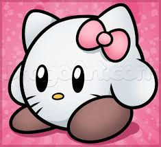 draw kirby kitty step step characters pop
