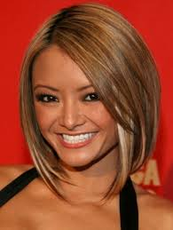 hairstyles that are angled towards the face would love to get my haircut like this with blonde highlights but