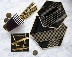 aliexpress buy 80 sets black and gold paper plate sets