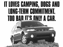 just a car for the subaru commercial it cing dogs and term