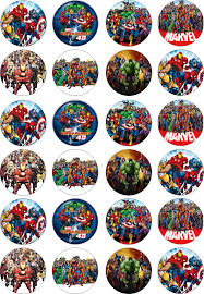 marvel cake toppers marvel superheroes cupcake toppers bottle caps