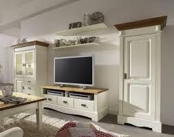 Wohnzimmerschrank Von Ikea Großartig Wohnwand Landhaus Massivholz Vagenta In Weiß Pharao24 De