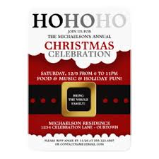 christmas party invitations family christmas party invitations announcements zazzle