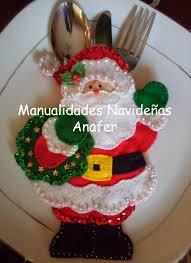 manualidades navideñas anafer portacubiertos navideños navidad