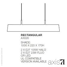 Rectangular Shade Pendant Light by Axis 71 Memory Pendant Light Rectangular Axis 71 Pendant Light
