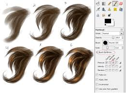 painting hair step by step google search