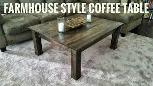 farmhouse style coffee table make a farmhouse style coffee table youtube