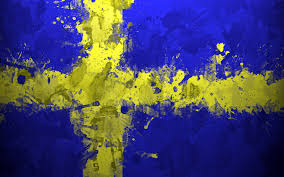 Blue And Yellow Cross Flag Sweden Flag Blue Yellow Cross Painting Artwork Wallpapers Hd