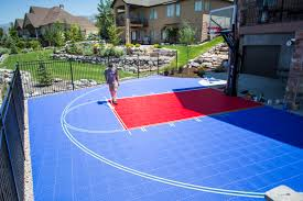 Backyard Tennis Courts Backyard Basketball Court In Draper Utah