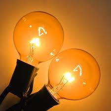 Yellow C9 Lights 25 Ft Black C9 String Light With G50 Yellow Bulbs