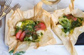 cuisine papillote citrus scallops en papillote with herb emulsion