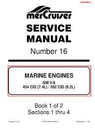mercruiser 4 cyl 3 0 service manual gasoline internal