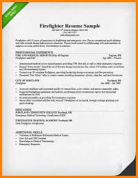 Character Resume Template Firefighter Resume Fireman Resume Example 10 Firefighter Resume