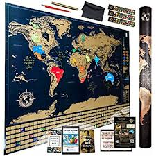 map of us states poster scratch world map with outlined us states